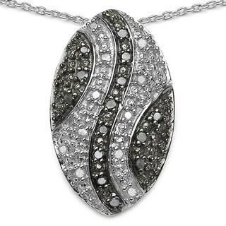 Olivia Leone .925 Sterling Silver 0.51 Carat Genuine White Diamond Pendant (I-J)