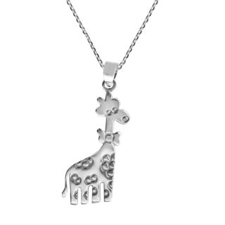 Fashionable Giraffe with Bowtie .925 Silver Necklace (Thailand)