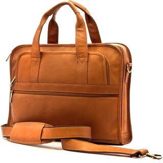 Muiska Vaquetta Leather Milan Expandable 16.5-inch Laptop Briefcase