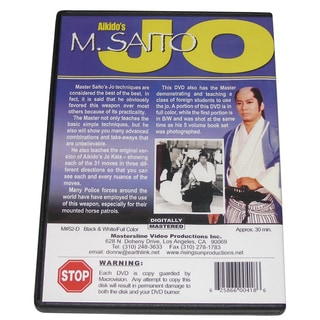 Aikido Morihito Saito Jo Staff Training DVD staff bo kata weapon fighting kobudo