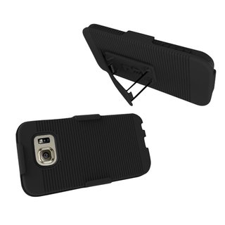 Insten Black Hard Snap-on Rubberized Matte Holster Belt Clip For Samsung Galaxy S6 Edge Plus