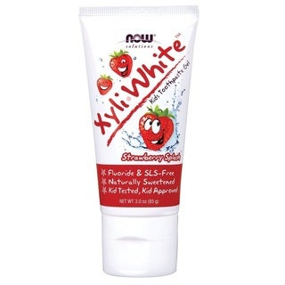 Now Foods Solutions Xyli-White Kids' Strawberry SplashToothpaste Gel