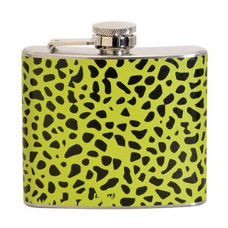 Green Leopard Fun 5-ounce Green Party Flask