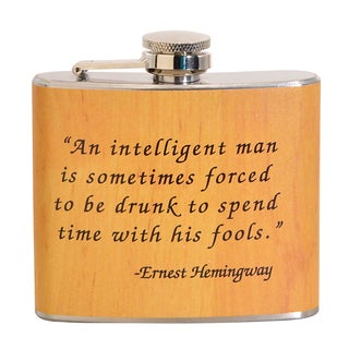 Ernest Hemingway Fun 5-ounce Beige Party Flask