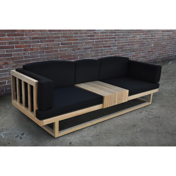 Solis Silva Outdoor Deep Seated Solid Wood Accent Sofa Daybed Free Shipping Today Overstock