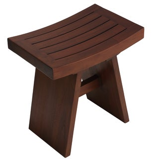 Bare Decor Sofi Shower Stool in Solid Teak Wood