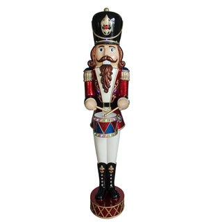 "72"" Pre-Lit Animated & Music Playing Nutcracker Decoration"
