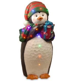 "41"" Pre-Lit Penguin Decoration"