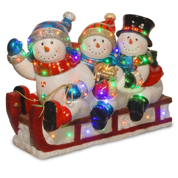 "Shop 29"" Pre-Lit Sledding Snowmen Decoration - On Sale ..."