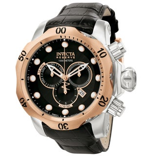 Invicta Men's 0360 Venom Quartz Chronograph Black Dial Watch
