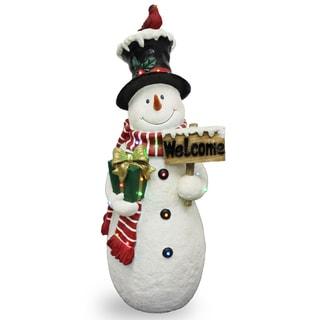 """Pre-Lit 28"""" Snowman Decoration"""
