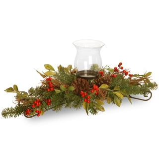 "30"" Decorative Collection Berry Leaf Centerpiece"