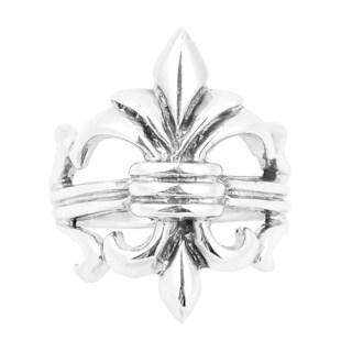 Grandeur Fleur de Lis Lily Flower .925 Sterling Silver Ring (Thailand)