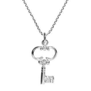 Dainty Key to My Heart .925 Sterling Silver Necklace (Thailand)