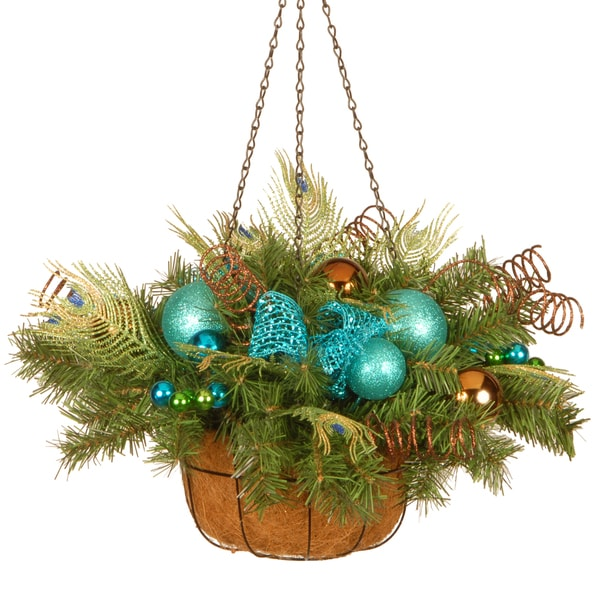 22 decorative collection peacock hanging basket - Christmas Hanging Baskets