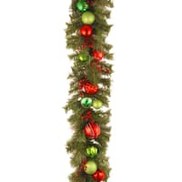 6 ft. Decorative Collection Red and Green Garland