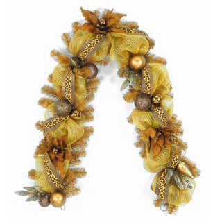 6 ft. Harvest Collection Brown Ribbon Garland