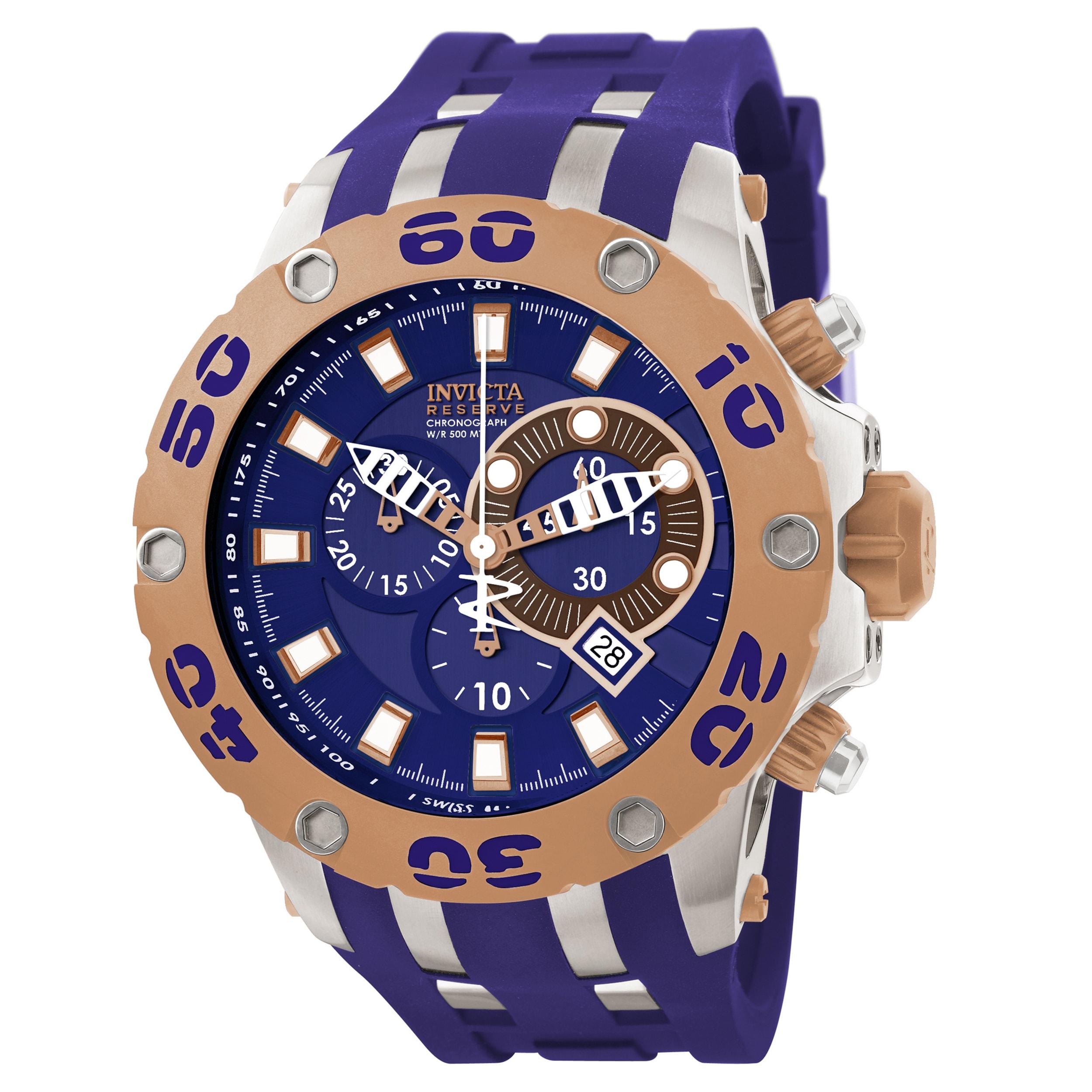 Invicta Men's 0910 Subaqua Quartz Chronograph Blue Dial W...