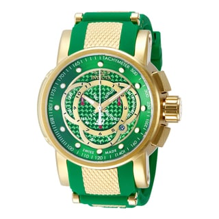Invicta Men's 10565 S1 Rally Quartz Chronograph Green Dial Watch