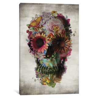 iCanvas Skull #2 by Ali Gulec Canvas Print