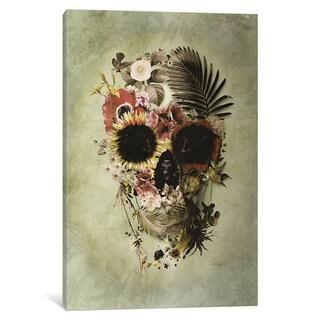 iCanvas Garden Skull Light by Ali Gulec Canvas Print