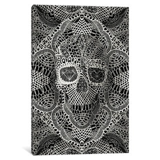 iCanvas Lace Skull by Ali Gulec Canvas Print