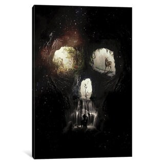 iCanvas Cave Skull by Ali Gulec Canvas Print
