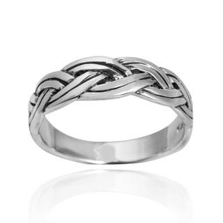 Braided Celtic Knot Band .925 Sterling Silver Ring (Thailand)