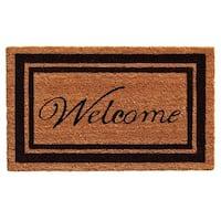 Black Border Welcome Doormat (1'6 x 2'6)