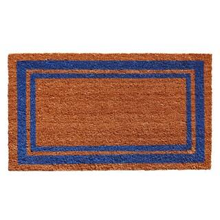 Blue Border Doormat (1'6 x 2'6)