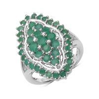 Olivia Leone .925 Sterling Silver 1.73 Carat Genuine Emerald Ring