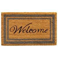 Periwinkle Border Welcome Doormat (1'6 x 2'6)
