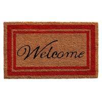 Red Border Welcome Doormat (1'6 x 2'6)