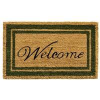 Sage Green Border Welcome Doormat (1'6 x 2'6)