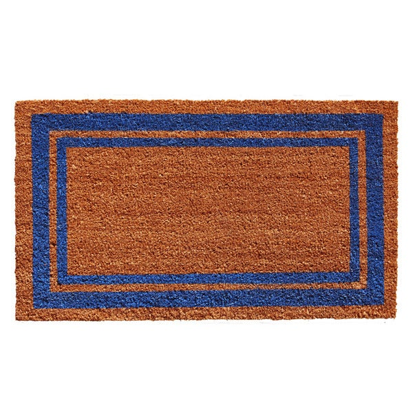 Blue Border Doormat (2' x 3')