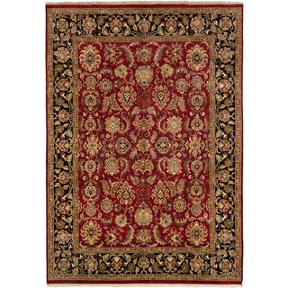 Ecarpetgallery Sultanabad Black/ Red Wool Area Rug (8'9 x 12'3)