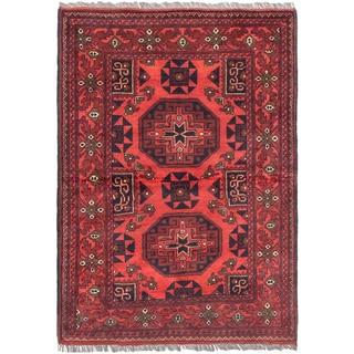 Ecarpetgallery Finest Khal Mohammadi Red Wool Area Rug (3'4 x 4'8)