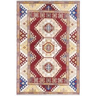Ecarpetgallery Royal Kazak Red Wool Area Rug (6' x 9')