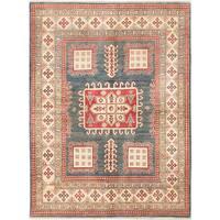 Ecarpetgallery Finest Gazni Blue Wool Area Rug - 5' x 7'