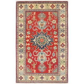Ecarpetgallery Finest Gazni Red Wool Area Rug (3' x 5')