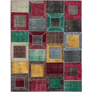 Ecarpetgallery Color Transition Patch Multi Wool Area Rug (7' x 9')