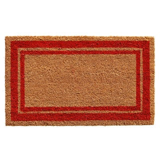 Red Border Doormat (2' x 3')