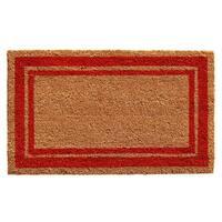 Red Border Doormat (2' x 3')