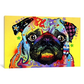 iCanvas Pug by Dean Russo Canvas Print