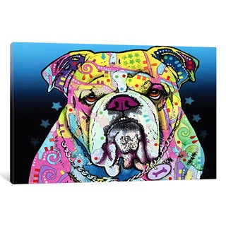 iCanvas The Bulldog by Dean Russo Canvas Print