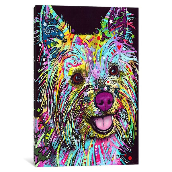 iCanvas Yorkie by Dean Russo Canvas Print