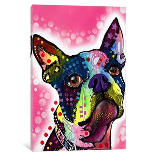 iCanvas Boston Terrier by Dean Russo Canvas Print