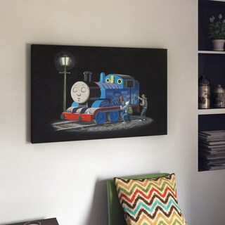 Porch & Den Thomas The Tank Engine by Banksy Canvas Print