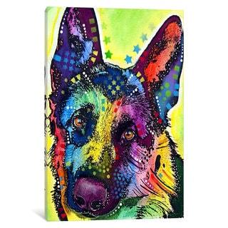 iCanvas German Shepherd by Dean Russo Canvas Print