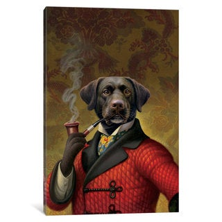 iCanvas The Red Beret (Dog) by Dan Craig Canvas Print